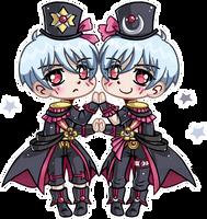 Beppu Twins ::Boueibu:: by YamPuff