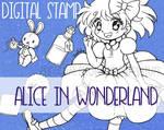 Alice in Wonderland ::Digital Stamp Pack::