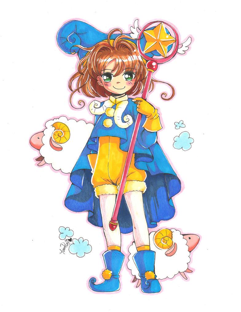 Card Captor Sakura - Sheep Outfit by YamPuff