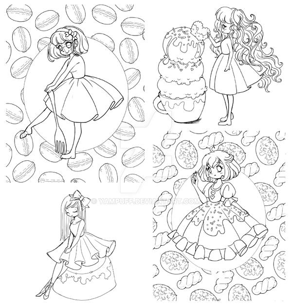 New Coloring Book Wips By Yampuff On Deviantart