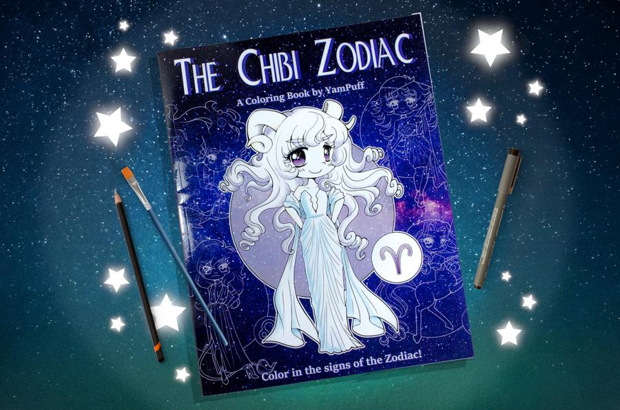 The Chibi Zodiac - A Coloring Book by YamPuff by YamPuff