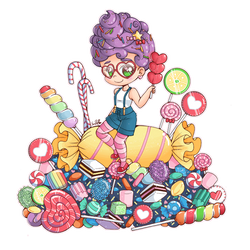 Candy Pile Chibi Commission