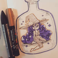 Inktober 2018 Day 5 ::Witch:: by YamPuff