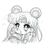 Sailor Moon Redraw Challenge - Sketch