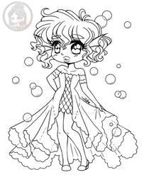 Underwater Chibi Free Coloring Page