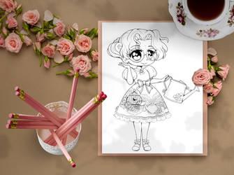 Anthy Lolita Chibi Coloring Page