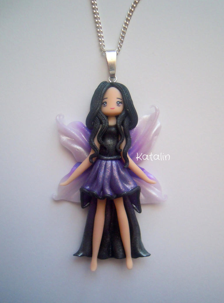 kawaii chibi fairy doll polymer clay fimo necklace by katalinhandmade on deviantart