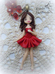 Polymec clay Moulin Rouge doll by KatalinHandmade