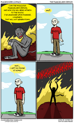 Placeholder comics -The Fauxcellarm Demon by justieno