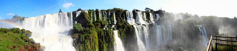 Igauzu Falls Panoramic by BookofThoth