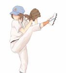 KH: She does the baseball