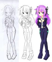 Kaneko Eiza's process by anirhapsodist