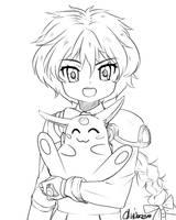 Sketch dump  Shidou Hikaru and Mokona by anirhapsodist