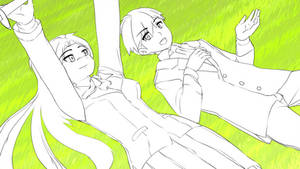 Sketch Dump 07202014: Noro on grass by anirhapsodist