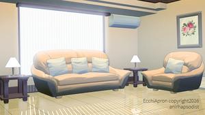 Ecchi Apron: Lounge Morning by anirhapsodist