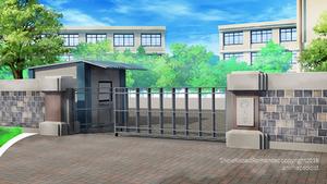 Snow Kissed Romance: School gate by anirhapsodist