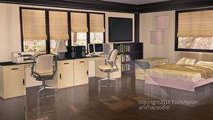 Ecchi Apron: Master bedroom by anirhapsodist