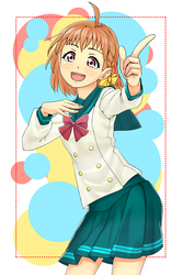 Lovelive pose Chika Takami smaller by anirhapsodist