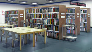 Library morning by anirhapsodist
