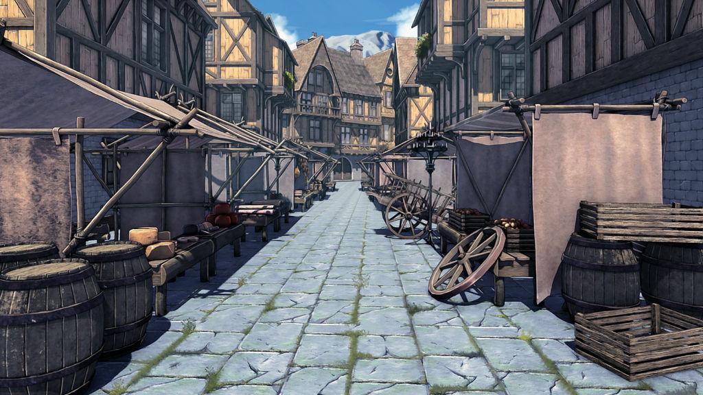 Medieval Market by anirhapsodist