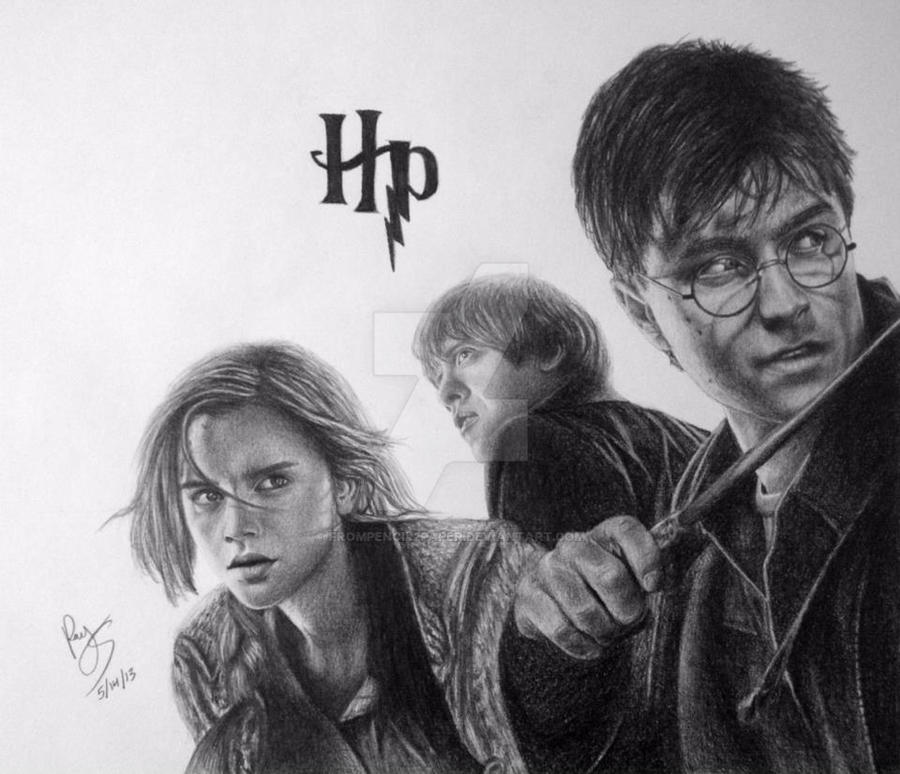 Harry potter ron weasley and hermione granger by - Harry potter hermione granger ron weasley ...