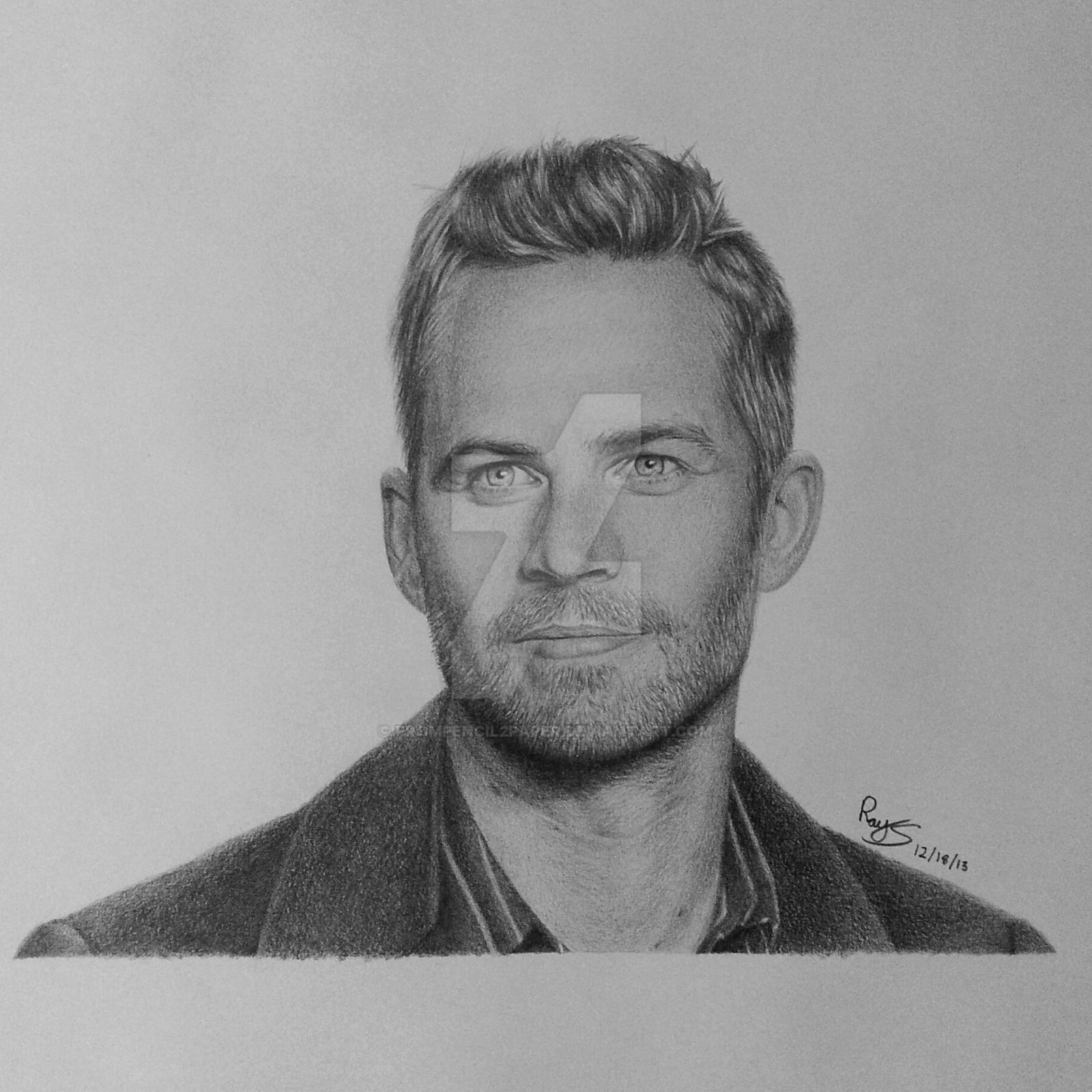 Paul Walker Fast And Furious Drawing