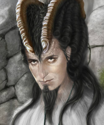 Goatman the wizard closeup by Shanti-Dragon