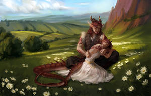 [Comm]: Dragon Twins by HumelenVaen