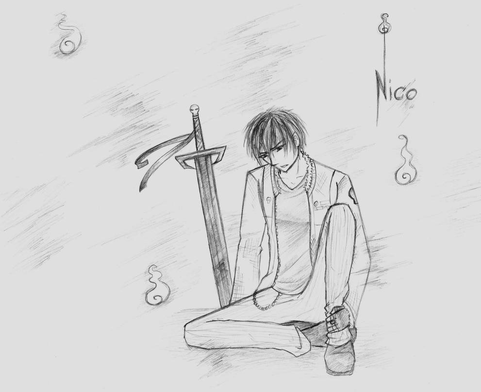 Nico DiAngelo - Sword and Soul by InkRoze