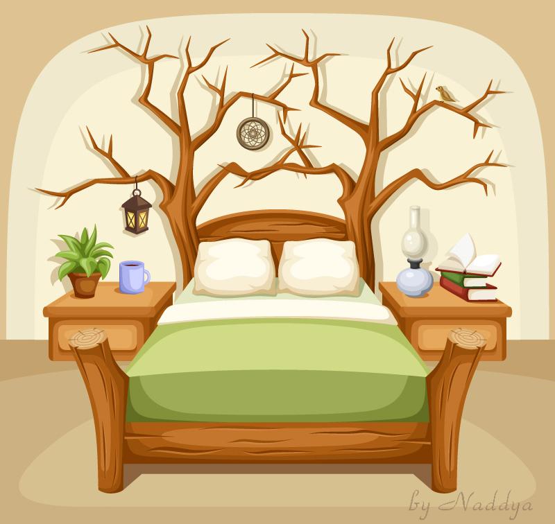 Fantasy bedroom  Vector illustration  by Naddiya. Fantasy bedroom  Vector illustration  by Naddiya on DeviantArt