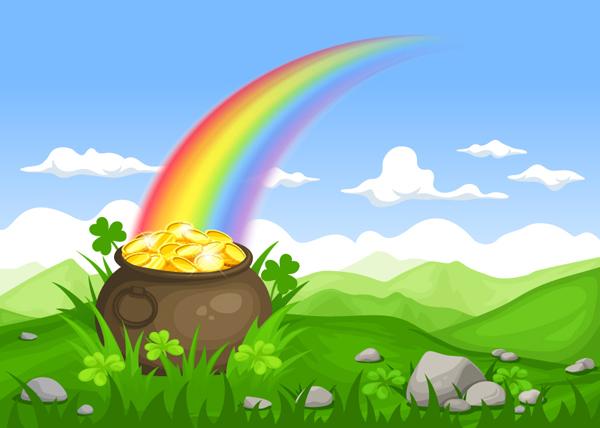 Leprechaun's pot of gold by Naddiya