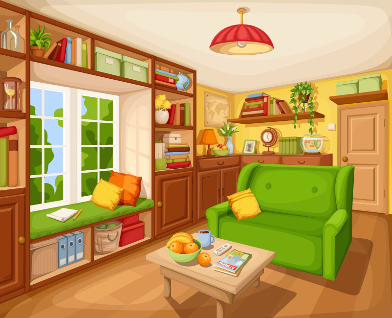 Living room interior by Naddiya