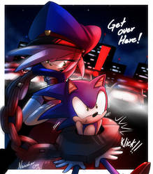 Amy rose +sexy police 3+ by ArchiveN