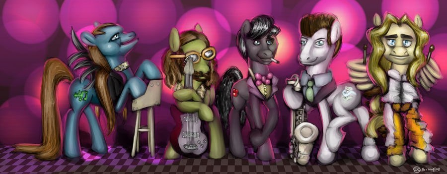 Roxy Music as ponies