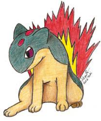 Quilava - Draw Me A Pokemon by KuraiTsuki