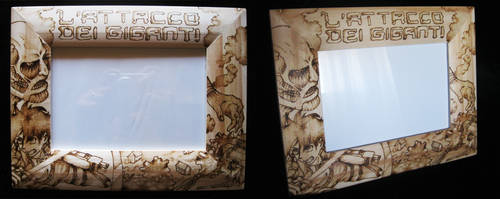 Attack on Titan Picture frame by ChibiPyro