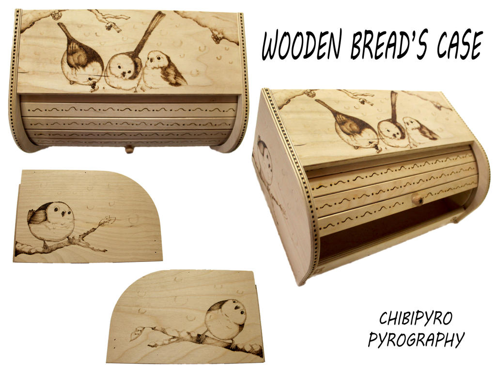 Bread Case pyrography by ChibiPyro