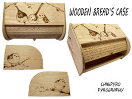 Bread Case pyrography
