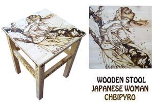 Geisha wooden stool