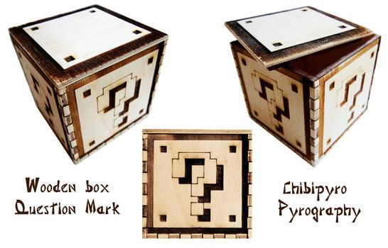 Wooden Box Question Mark