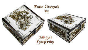 Wooden Steampunk Box by ChibiPyro
