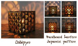 Hardboard Lantern Japanese Pattern by ChibiPyro
