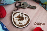 Cherry Hedgedog wooden keychain