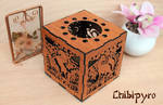 Fantasy Creatures lantern cherry wood color