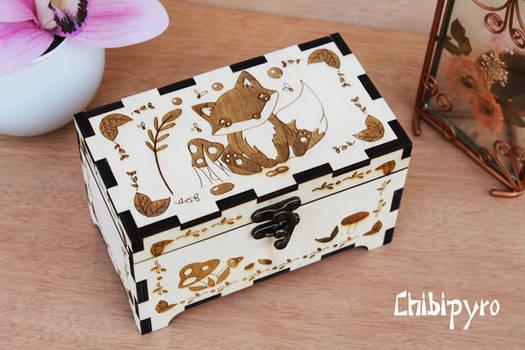 Wooden Box Fox by ChibiPyro
