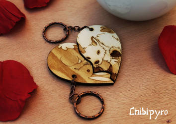Bunny and Goat keychain