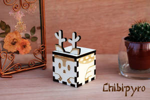 Wooden favor deer by ChibiPyro