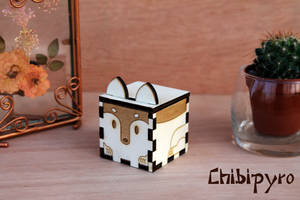 Wolf Wooden Favor by ChibiPyro