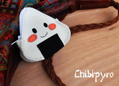 Leather purse Onigiri
