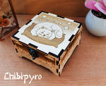 Wooden cat box